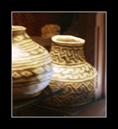 Pottery at the Tusayan Museum at the Grand Canyon