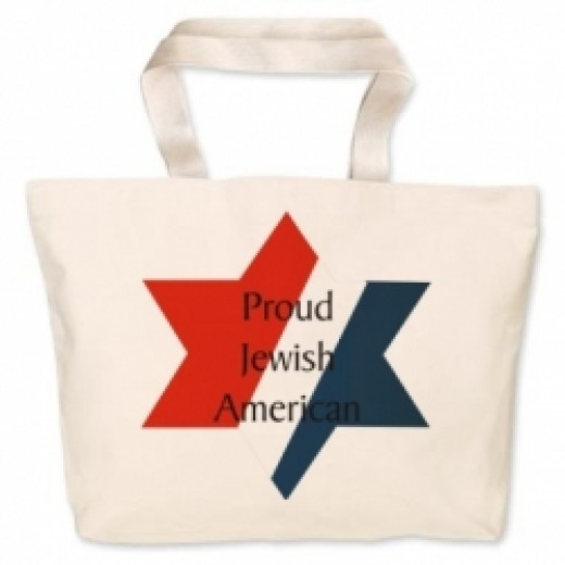 Proud Jewish American Canvas Bag -- also available at Printfection