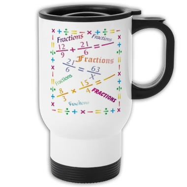 Math (Fractions) Travel Mug