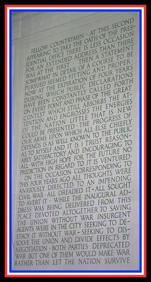 Abraham Lincoln Second Inaugural Address Saturday, March 4, 1865