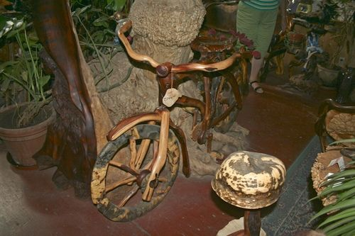 Bicycle made of Burl wood