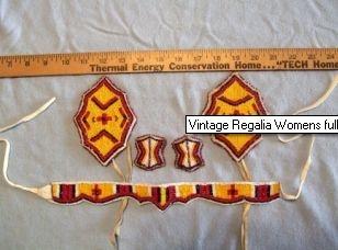 Vintage Native American Regalia Seed Beading Art