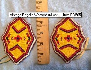 Vintage Native American Regalia seed bead art example two