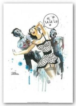 "Zombie Love by Lora Zombie 12""x16"" Art Print Poster"