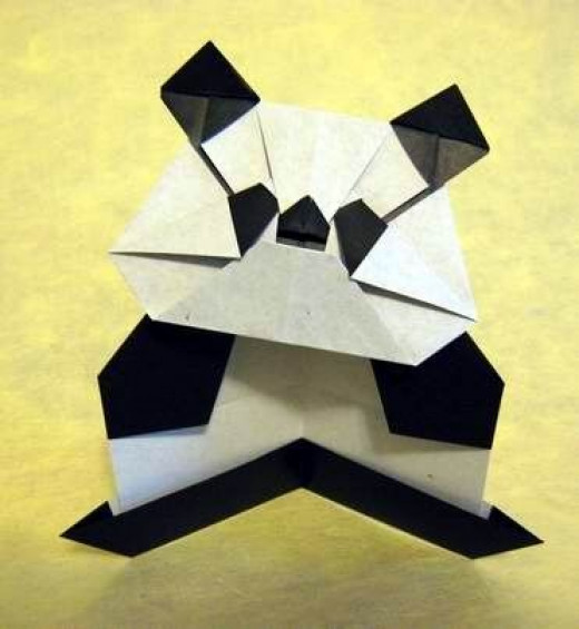 "Giant Panda from ""Origami Made Easy"""