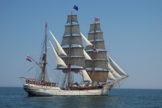 The Europa, which sailed all the way from the Netherlands to join us on Lake Ontario.