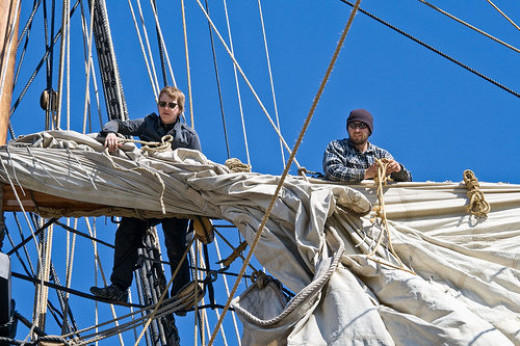 Furling and dock-stowing sail.