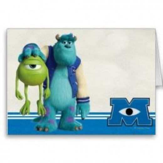 Mike and Sulley Card