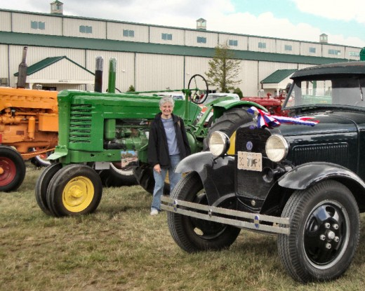 The old-time farm tractors and trucks were beautifully maintained.