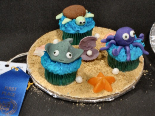 We just adored these cupcake competition winners - from under the sea.