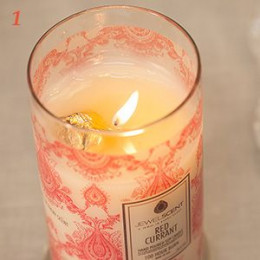 Step 1. Burn your candle until you see the gold foil. Snuff out the flame and let the wax cool for moment.