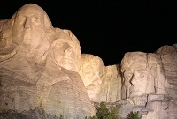The lighting ceremony at Mount Rushmore