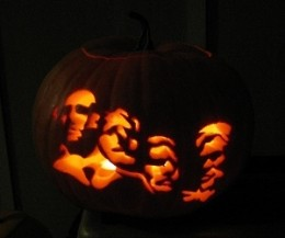 My own tribute to Mount Rushmore - Halloween 2010