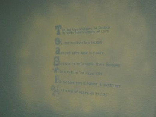 A love poem on my wall