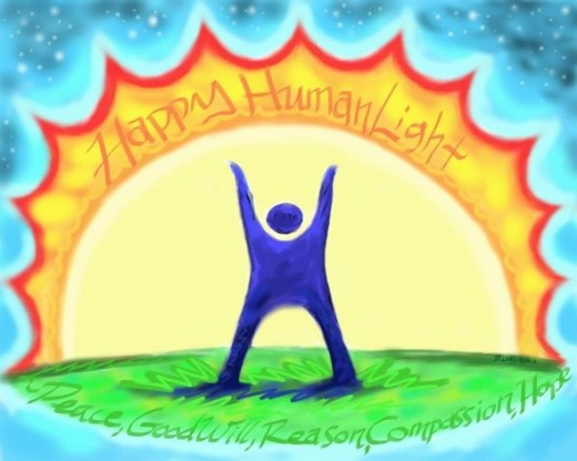 HumanLight greeting card