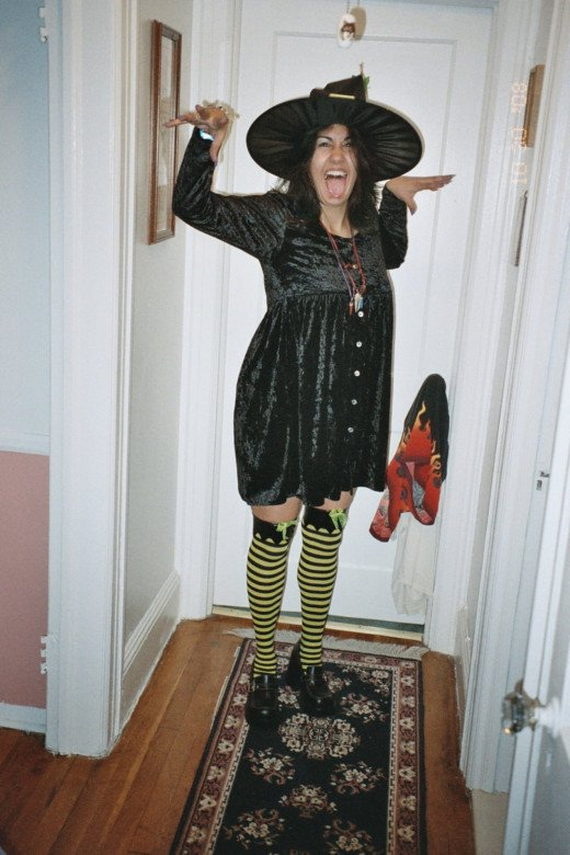 Me as a witch (I put the doorknob on fire)