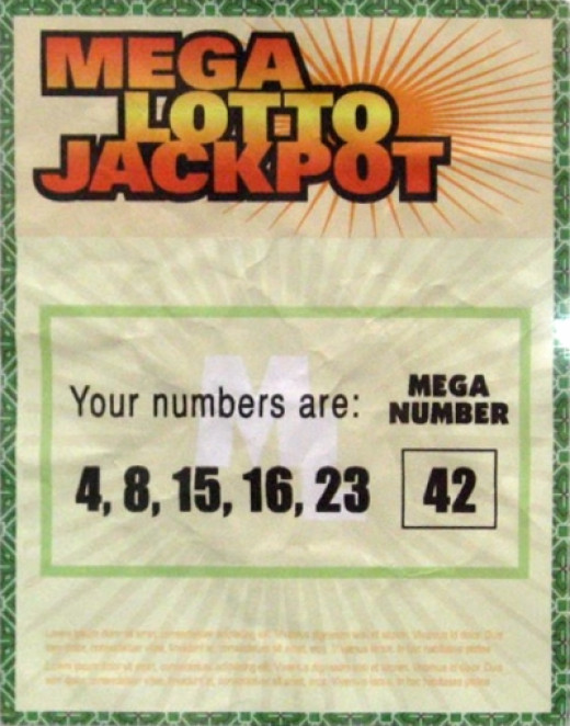 The most famous winning lottery ticket.  From Lost  (& most played numbers during the series!)