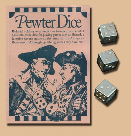 The pewter dice