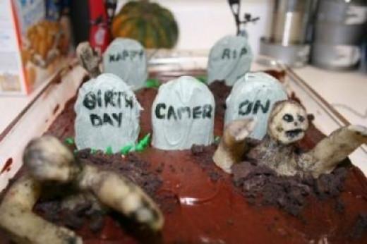 Graved yard cake (or brownies)