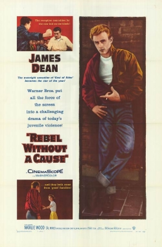 Rebel without a Cause movie poster James Dean