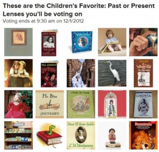 Nominee for Favorite Children's book lens