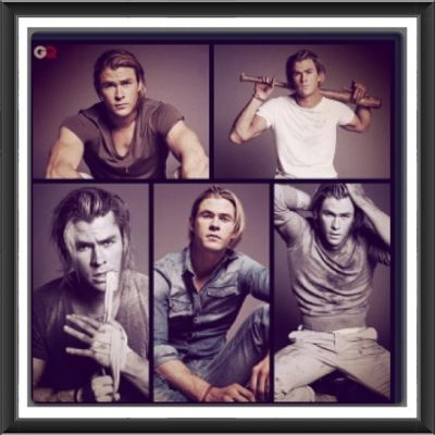 Chris GQ shoot collage