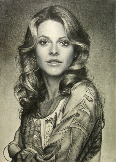 Portrait Of Lindsay Wagner by Noel Cruz