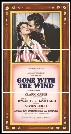 Classic Gone with the Wind Movie Poster