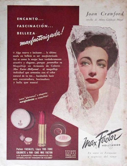 Joan Crawford sold Makeup.