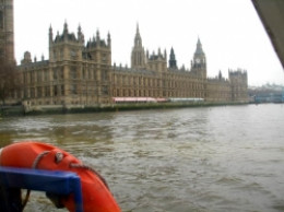 Parliament building from the Thames