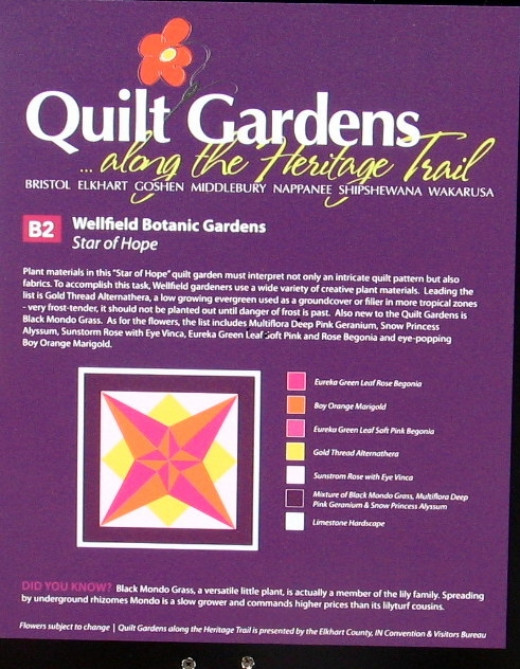 The Wellfield quilt garden is one of many in the county