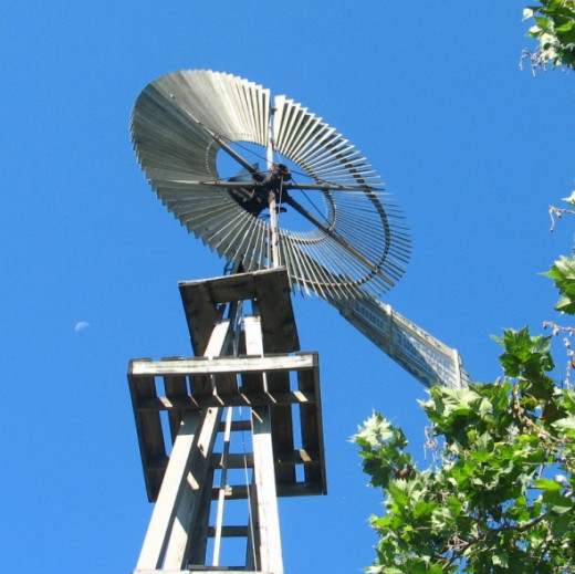 Windmill, across from the main mill building