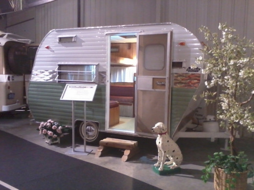 Vintage travel trailer, 1964 Coachmen Cadet.