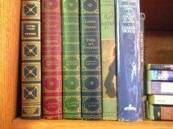 High School Classic Books on Shelf