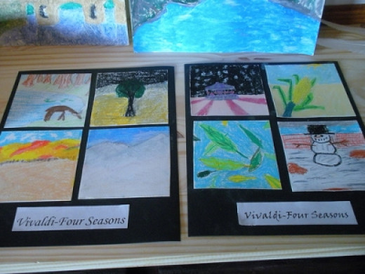 Oil Pastel Four Season Vivaldi Project