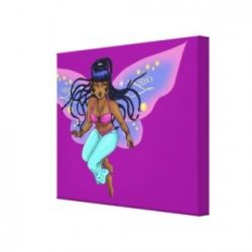Fairy Trixie Wrapped Canvas