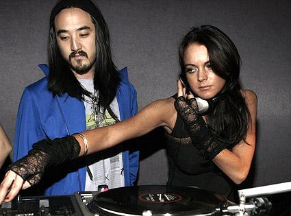 Electro House DJ Steve Aoki and Lindsay Lohan