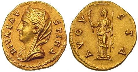 Faustina Sr., Augusta 25 February 138 - early 141, wife of Antoninus Pius Gold