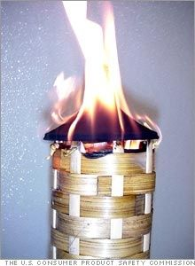 bamboo outdoor torches