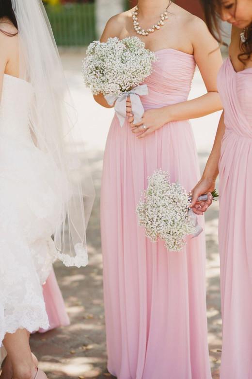 Striking Pink Bridesmaid Dresses