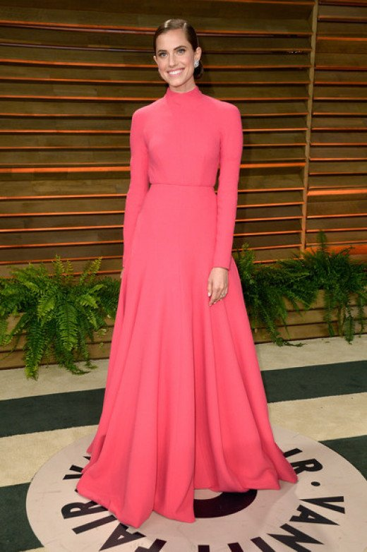 Coral pink for red carpets...