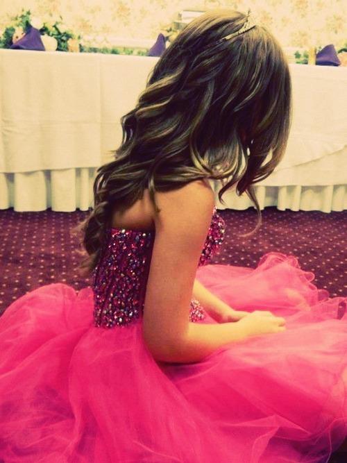 Flirty neon pink prom dress