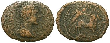 Commodus, March or April 177 - 31 Dec 192 A.D., Philippopolis, Thrace Bronze