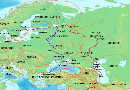 Viking Trade Routes in Eastern Europe and the Middle East