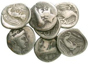 Chalkis, Euboea, Greece, 340 - 271 B.C. Silver