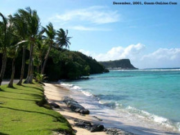 I hung out at GabGab Beach a lot that year. The ocean was the most beautiful combination of blues and greens imaginable. The reef around the island allowed you to walk out quite a ways. WWII left its mark on GabGab. Places shells had landed on the ap