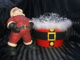 Christmas Centerpieces - Santa Belt Gift Basket