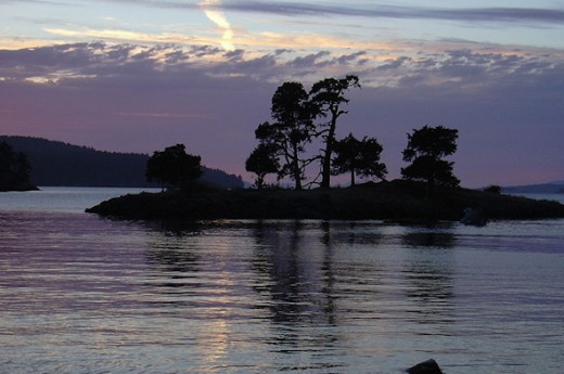 One of the small islands in the Strait of San Juan de Fuca