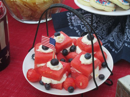 Watermelon Canapes. The recipe appears below!