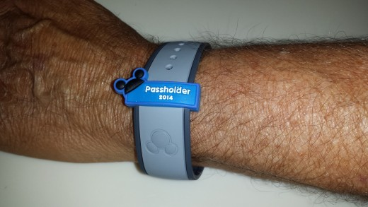 My Hubby's New MagicBand! (We chose the neutral gray color!)